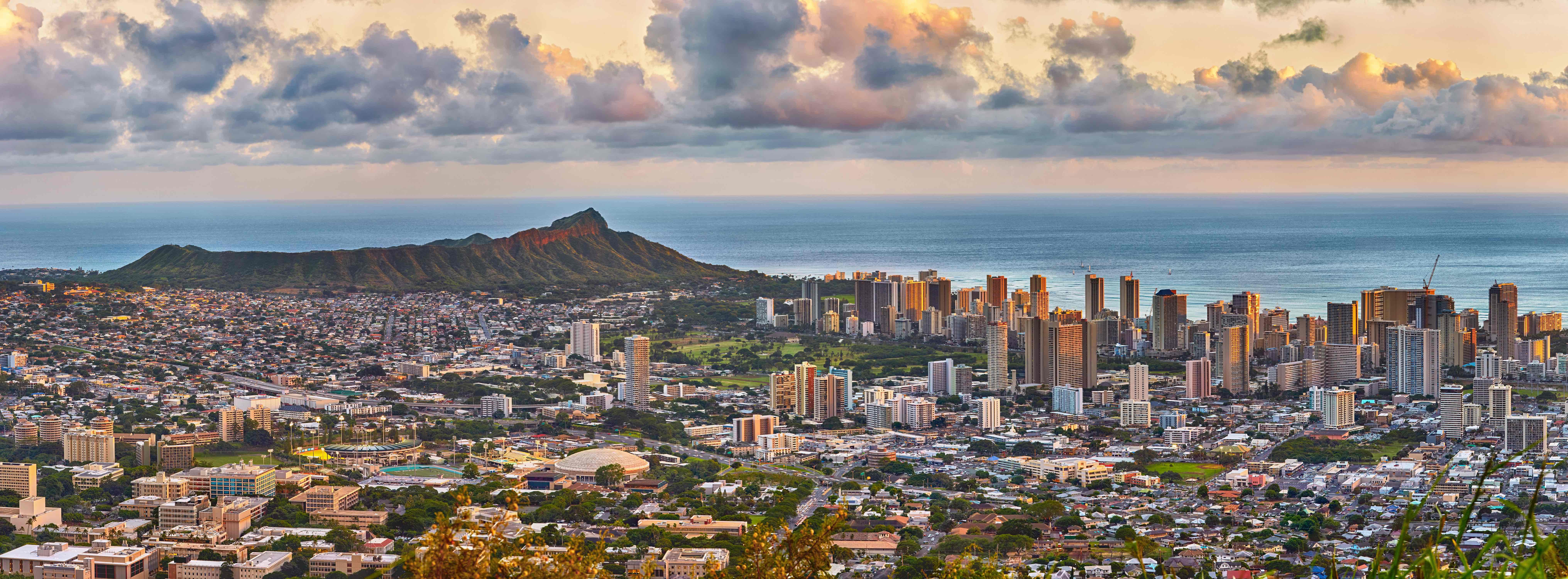 Waikiki and Diamond Head from Tantalus lookout